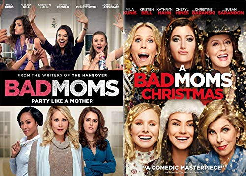 MOM's Am I Right?: Bad Moms + A Bad Moms Christmas DVD Comedy Bundle Holiday Smart Lady Power