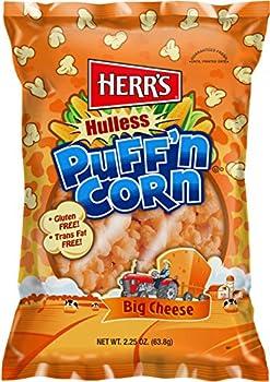 Herr s -Cheesy Hulless Puff n Corn Pack of 11 bags