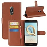 HualuBro Alcatel A7 Hülle, [All Around Schutz] Premium PU