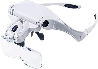Vergrootglas Wimperverlenging 5 Lens Verstelbare hoofdband Vergrootglas Vergrootglas Led-lichtlamp Vergrootglazen voor val...