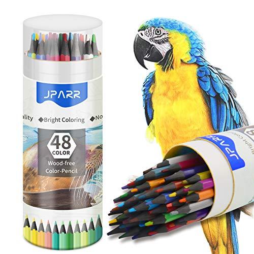 Juego de 48 lápices de colores en un barril con base de...