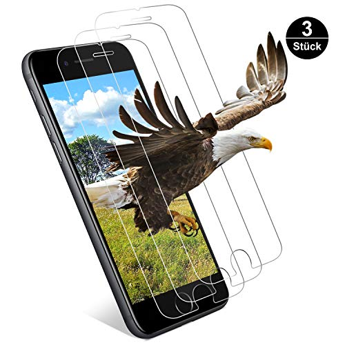 Ylife Panzerglas Schutzfolie Kompatibel iPhone 6S iPhone 6, (3 Stück) 9H Härte Transparenz Panzerglasfolie, Anti-Kratzer, Anti-Öl, Ultra Dünner Displayschutzfolie, 3D Touch Glas Folie