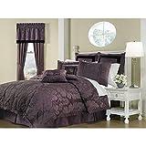 Royal Heritage Home Lorenzo Purple 8-Piece Queen Size Comforter Set