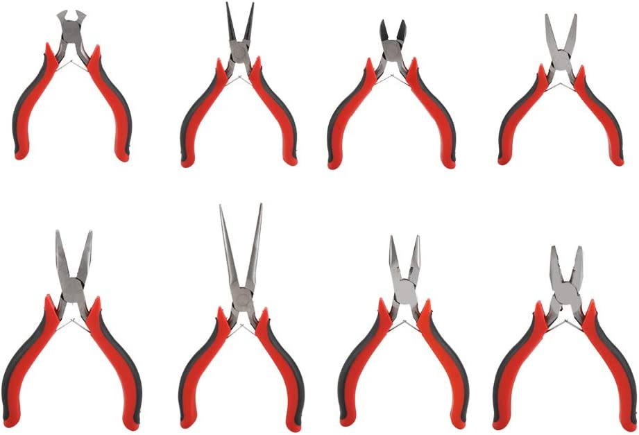 SOONHUA San Jose Mall 8 Pcs Professional Jewelry Making Nose Round Tool Wire-C Alternative dealer