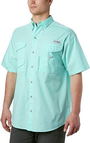 Columbia Hommes's Bonehead manche courte Shirt, Gulf Stream, X-petit