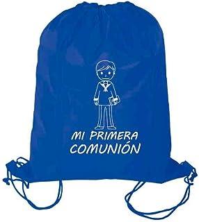 Bolsa con Cuerdas Mochila niño Primera Comunión. Lote de 10 Unidades. Regalo para los niños para Comuniones.