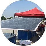 MYAN Pare-Soleil Voiles 85% Pare-Soleil Taux Silvery Feuille d'aluminium Jardin abri Voiture Camping Sun Shading Net Couverture végétale Net Ombrage Reflect Sun Light (Color : Silver, Size : 2x4m)