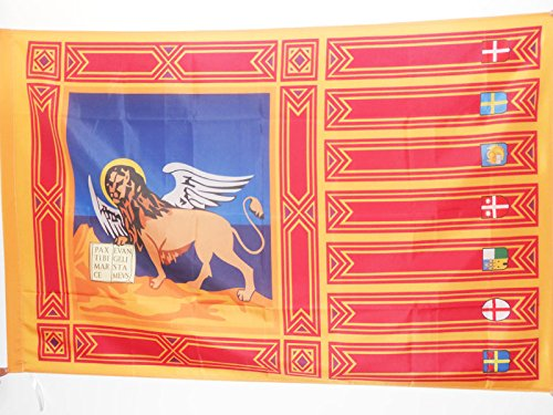AZ FLAG Bandiera Veneto 90x60cm - Bandiera Veneta - REGIONE Italia 60 x 90 cm Foro per Asta