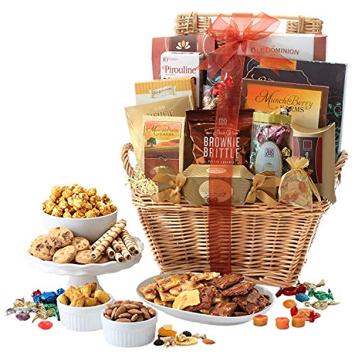Broadway Basketeers Deluxe Christmas Gift Basket with Chocolates, Lindt incl. (Kosher Certified)