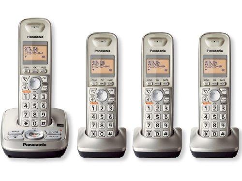 Price comparison product image Panasonic KX-TG4224N DECT 6.0 4-Handset Cordless Telephone