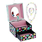 Kids Musical Jewelry Box for Girls with Drawer and Jewelry Set with Lovely Mermaid Theme - Beautiful Dream Tune Blue