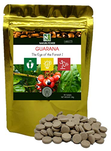 Guarana / 90 tabletten von 600mg / NAKURU Power/Poeder Gedroogd en koudgecomprimeerd/Analyse en verpakking in Frankrijk /