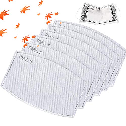 100Pcs PM2.5 Activated Carbon Filter Meltblown Non-Woven Cloth 5 Layers Replaceable Anti Haze Filter Paper (100Pcs)