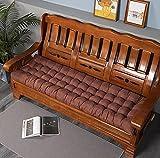 Lovemorebuy Cojín de banco, rectangular para asiento de banco, cojín suave, cojín para silla de jardín al aire libre, interior (120 x 48 cm), color marrón