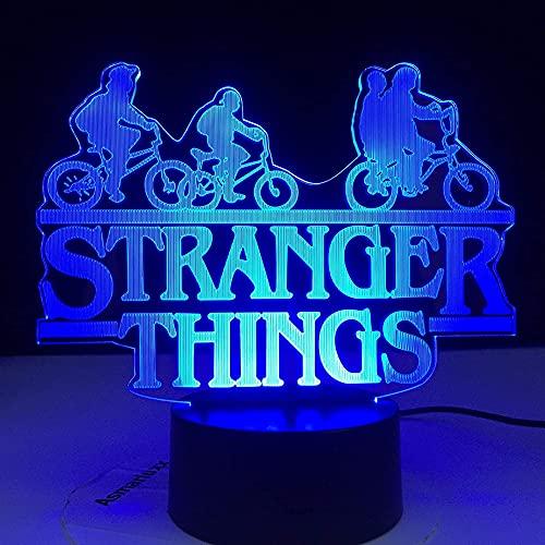 Luz de ilusión 3D, luz nocturna LED 3D, interruptor táctil de 7 colores, lámpara de escritorio con mando a distancia, adecuada para familia de niños y cumpleaños de amigos