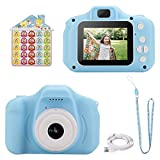 welltop Kids Digital Cameras, Rechargeable Childrens Camera 1080P New Year Birthday Festival Toy