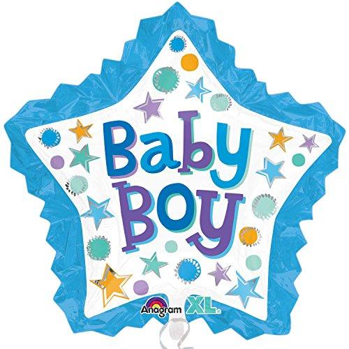 Amscan International 8 550 912,5 cm bébé garçon Cœur avec Volants Super Forme Ballon en Aluminium