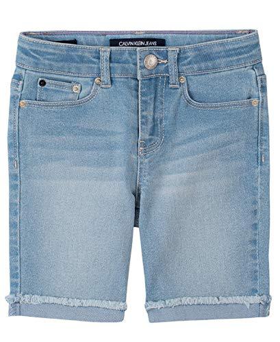 Calvin Klein Girls' Big Bermuda Short, S20 Cut Off Mist, 8