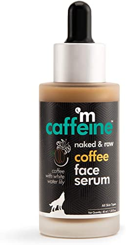 mCaffeine Naked & Raw Coffee Face Serum | Sun Protection | Hyaluronic Acid, Vitamin E | All Skin | Paraben & Mineral ...
