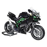 DAN DISCOUNTS Bloques de construcción para motocicleta, 838 bloques de construcción H2R, modelo de motocicleta, juego de construcción compatible con Lego