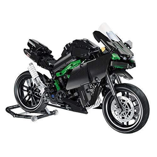 FADF Motorrad Bausteine, 836 Stück Rennmotorrad Bausatz, Motorrad Modellbau, für Kinder, Erwachsene über 8 Jahre
