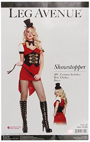 Leg Avenue Costume 2-Pièces Cirque Rouge/Noir Large