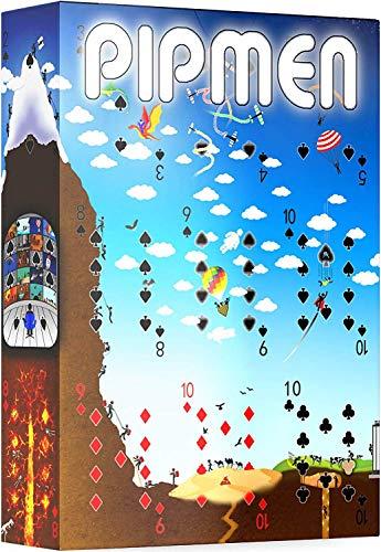 Weltweite Full-Art-Spielkarten von Pipmen - Incredible World First Puzzle-Themenkarten, Standard-Pokerkartengröße und -indizes - Heben Sie sich heraus mit dem coolsten Kartenspiel