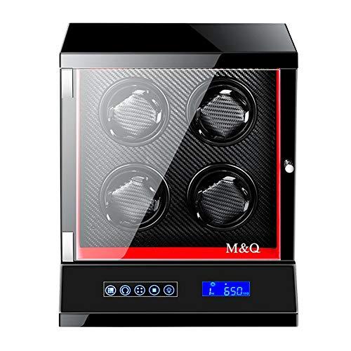 miwaimao Automatische Uhrenbeweger Box Für Männer, Smart LCD Touch Screen + Fernbedienung Uhr Aufbewahrungsboxen Mit LED-Leuchten