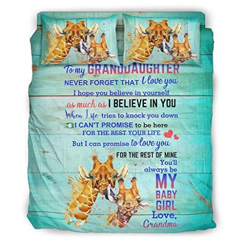 Twelve constellations Juego de cama de 4 piezas con diseño de jirafa y jirafa, elegante, de microfibra, 203 x 230 cm, color blanco