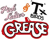 Pink Ladies & T-Birds - Grease - for Light-Colored Materials - Iron On Heat Transfer 8.5' x 7'