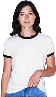 American Apparel Ladies Poly/Cotton Ringer T-Shirt