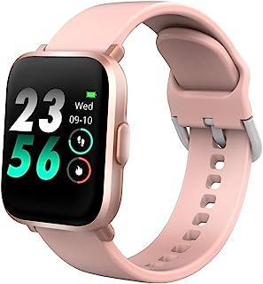 DR.VIVA Reloj Inteligente Hombres Mujeres CS201, Smartwatch Impermeable IP68,Deportivo Pulsera de Actividad Inteligente Reloj de Fitness con Pulsómetro Cronómetro SpO2 para Android iPhone