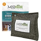 MOSO NATURAL: Stand Up Home Air Purifying Bag 300g. for Closets, Bathrooms, Pet Areas. Fragrance Free, Chemical Free, Long Lasting, Moisture Absorbing, Odor Eliminator. Charcoal Color