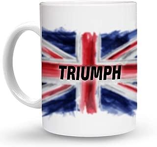 Makoroni - TRIUMPH British, England, United Kingdom Flag - 11 Oz. Unique COFFEE MUG, Coffee Cup