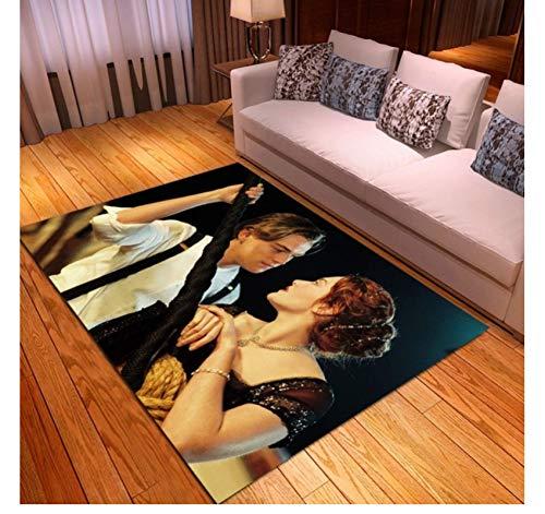 Hiemycop Alfombra Jack Y Rose Titanic Películas Área De Impresión Alfombras Dormitorio Sala De Estar Alfombras De Piso Mesa Área De Cocina Alfombras Alfombras De Baño 160X230Cm