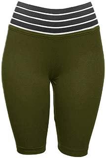 Sanwooden Comfortable Yoga Shorts Sexy Women Yoga Shorts Push Up Stripe Patchwork High Waist Gym Skinny Leggings Pants