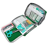 First Aid Kit -Compact First Aid Bag(175 Piece) - Reflective Bag Design- Includes 2 x Eyewash,Instant Cold Pack… 16