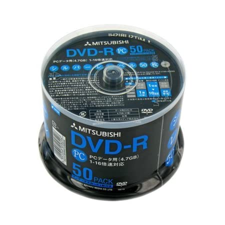 三菱化学メディア DVD-R(Data)1回記録用4.7GB16倍速50枚スピンドル50Pシルバーレーベル DHR47J50H4