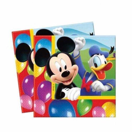 Amscan Lot de 20 Serviettes de Table Mickey Mouse