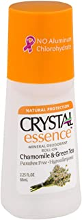 product image for Crystal Essence Mineral Deodorant Roll-On, Chamomile & Green Tea 2.25 oz (Pack of 10)