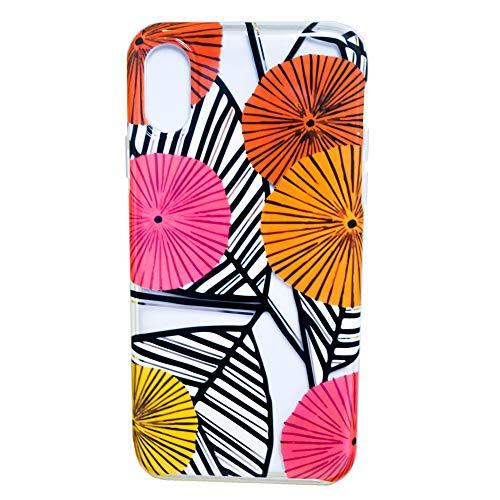 iHome 54th and Madson Limited Edition Designer-Schutzhülle für Apple iPhone X, XS, Pink / Orange / Gelb