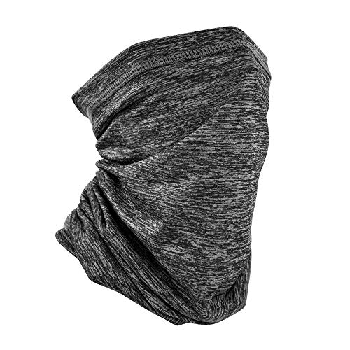 MCTi Neck Gaiter Face Mask, Thin Face Scarf Dust Mask Bandana Balaclavas for Running Cycling Fishing Grey-B