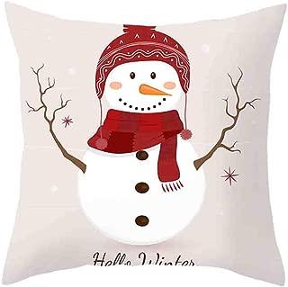 ⭐ Futurelove ⭐ Christmas Pillow Cover Decor Pillow Case Sofa Waist Throw Cushion Cover for Sofa Cushion Covers Pillowcases