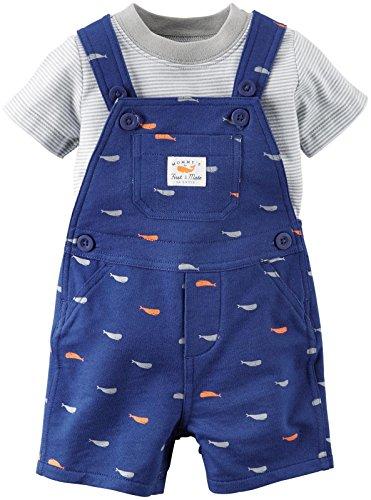 Carter's Baby Boys' 2 Piece Shortall Set 121g348