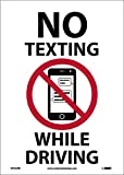 National Marker Corp. M783PB No Texting (Graphic) While Driving Sign, 14 Inch X 10 Inch, PS Vinyl W/Lam