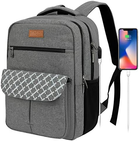 Travel Laptop Backpack for Women Men Waterproof Business Bags with USB Charging Port Fits 15 product image