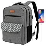 Arrontop Backpacks for College Students, Laptop Backpack Water Resistant Computer Bag, Backpacks for High School with Usb Charging Port