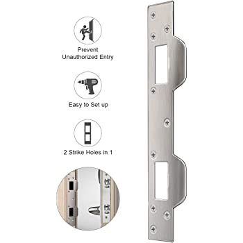Defender Security U 9480 Door Strike Accommodates 5 1 2 In To 6 In Hole Centers Steel Brass Plated Door Lock Replacement Parts Amazon Com
