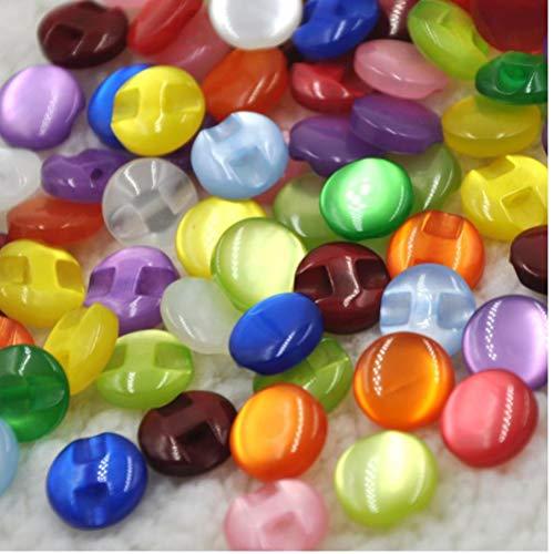 PiniceCore 100pcs Kind-Kleidung-Süßigkeit-Farben-Augen-Katzen-Stein-Knopf/Nähen