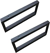 2 x Stevige Plankdragers, Stevige Vierkante Zwevende Plankdragers, Max. Belasting: 100kg, Industriële Plankdragers, Zwart/...